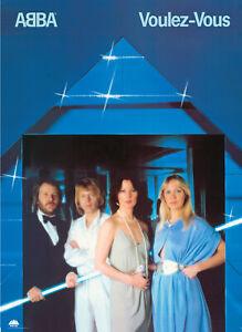 Vintage ABBA Pop Rock Disco Voulez-Vous Print Poster Wall Art Picture A4 +