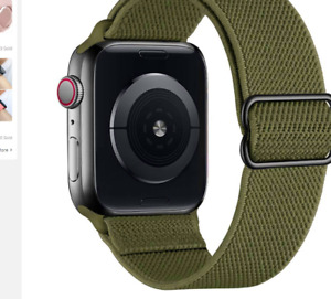 Solo Loop Nylon Strap for Apple watch band 44mm 40mm 38mm 42mm Adjustable Ela