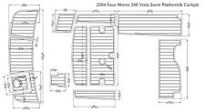 "2004 Four Winns 248 Vista Swim Platform& Cockpit Boat EVA Teak Decking 1/4"" 6mm"