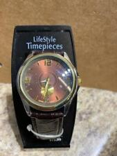 Lifestyle Timepieces Mens Quartz Watch Japan Movt Brown Leather 8018359