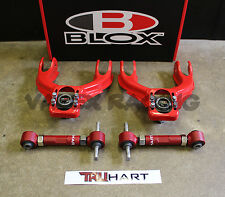 Blox RED Front & TruHart Rear Camber Kit Combo 92-95 Civic 94-01 Integra EG DC2