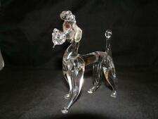 STUNNING VINTAGE GLASS POODLE DOG ORNAMENT FIGURINE FIGURE
