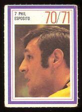 1970-71 ESSO POWER PLAYERS NHL #7 PHIL ESPOSITO EX BOSTON BRUINS UNUSED STAMP