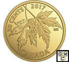 2017Proof 50-Cent 'The Silver Maple Leaf'1/25oz Gold Coin .9999 Fine(18069)(NT)