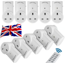Remote Control Socket Wireless Switch Home Mains UK Plug AC Power Outlet 12345