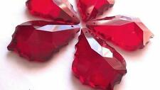 10 Chandelier Wedding Crystals Prisms Red 50mm French Cut Pendalogue Suncatcher