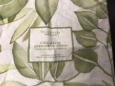 """Pottery Barn - King - """"Overlapping Leaves - 100% Organic- Duvet Cover"""
