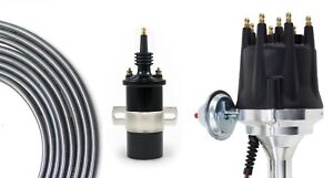 Billet Distributor 8.5mm Spark Plug Wires Coil fits 68-87 Land Cruiser FJ40 FJ55