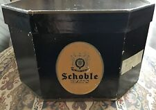 Vintage Schoble Hat Box Fifth Avenue New York, Octagon Shape, Black Cardboard