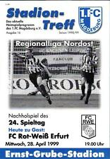 RL 1998/99 1. FC Magdeburg - FC Rot-Weiß Erfurt, 28.04.1999, Nachholspiel