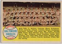 1958 Topps #408 Orioles Team EX-EX+ Wrinkle Brook Robinson FREE SHIPPING