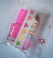 Lip balm & nail polish gift set kimono doll gloss party Xmas stocking fillers