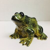 Ceramic Toad Frog Made in Japan Green 4 Inches Long