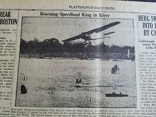 1931 Newspaper Kaye Don Miss England II Speed boat Racing Crash river Gar Wood