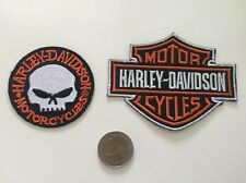 Patch toppa aufnaher Écusson embroidered Harley Davidson X2  thermocollant