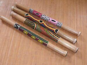 toll bemalter Bambus Rainmaker dot painting Regenmacher  Rainstick  80 cm
