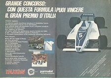 X1424 Yaxon - Formula 1 - Parmalat - Pubblicità del 1980 - Vintage advertising