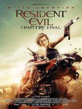 RESIDENT EVIL CHAPITRE FINAL Affiche Cinéma / Movie Poster 55x40 Milla Jovovich