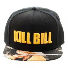 MIRAMAX KILL BILL BLACK SUBLIMATED BILL SNAPBACK HAT CAP UMA THURMAN THE BRIDE