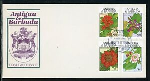 Antigua & Barbuda Scott #1128//1134 FIRST DAY COVER Flowering Trees FLORA $$