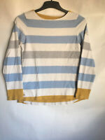 Joules Womens Stripy Cotton Long Sleeve Blouse 8(C531)