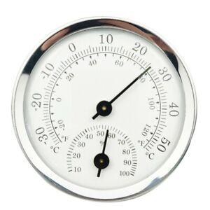 Analog Humidity Temperature Gauge Meter Indoor/Outdoor Thermometer Hygrometer