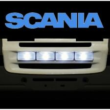 SCANIA R620 4470 GRILL FACE PLATE W/ LIGHTS TAMIYA 1/14 LESU  R470 etc