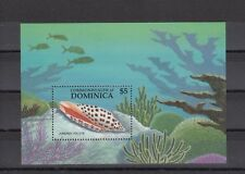 TIMBRE STAMP BLOC ILE DOMINICA Y&T#119 COQUILLAGE SHELL NEUF**/MNH-MINT 1987~A91