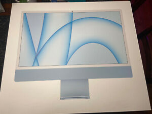 "Apple iMac 24"" (256GB SSD, Apple M1, 3.20GHz, 8GB, 8-Core CPU) Blue - MGPK3LL/A"
