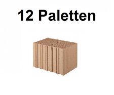12 Pal. Planziegel POROTON-T10 (36,5 cm) 8/0,65 Ziegelstein Planstein Mauerwerk