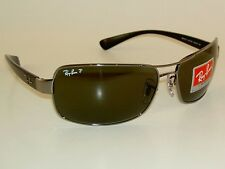 New  RAY BAN Sunglasses  Gunmetal  Frame  RB 3379 004/58  Polarized  Lenses