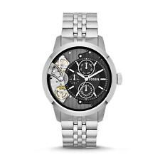 New Fossil Townsman Steel Multifunction 24 Hours Dress Watch 45mm ME1135 $225