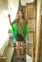 Kaftans Embellished Cruise Wear Abstract Prints Designer Viscose Soft Silk MK621