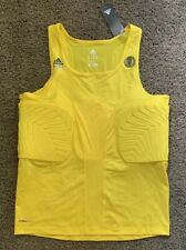 Adidas Nba ClimaCool Techfit Padded Basketball Compression Tank Top 2Xl Yellow