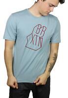 Brixton Mens Harmon Premium S/S T-Shirt Blue Stone M New
