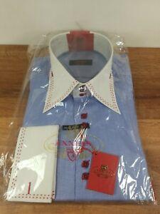 Axxess Men's Dress Shirt XL High Collar French Cuff Cuffs Men New w/ Tag NWT