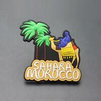 The Sahara Desert Morocco Souvenir Gift 3D Rubber Funny Fridge Magnet Cute