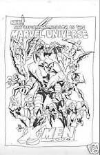 OFF. HANDBOOK MARVEL UNIV. COVER SKETCH by MIKE DEODATO