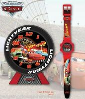 Officially Licensed Disney Cars Tyre Alarm Clock And Digital Watch Great Gift