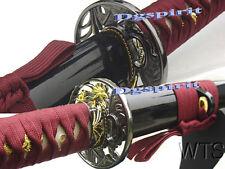 "40.9"" Hand Forged Tiger Lily Japanese Katana Sword"