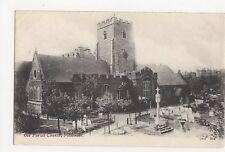 Kent, Folkestone Parish Church JWS Postcard, A742