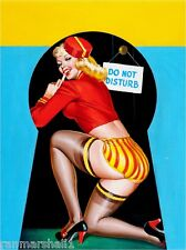1940s Pin-Up Girl Keyhole Series - Do Not Disturb Poster Pin Up Print Art