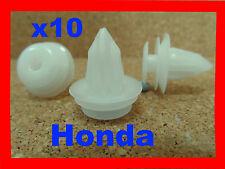 10 Honda body trim side plastic moulding clips retainer fasteners car