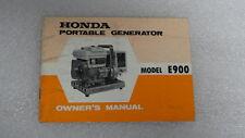 Honda E900 Portable Generator Owner's Manual  1971