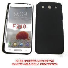 Pellicola+custodia BACK COVER RIGIDA NERA per LG Optimus G Pro E985 E980 (B2)