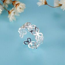 Male Female 925 Silver Ring New - Flower Ring Fashion Jewelry & gift Adjustable