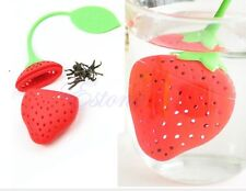 Tea Infuser Strawberry Loose Green Infusion Leaf Strainer Herbal Silicone tennis