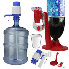 5 & 6 Gallon Hand Pump for Water Bottle Jug Tap Spigot+Bottle Drinking Dispense