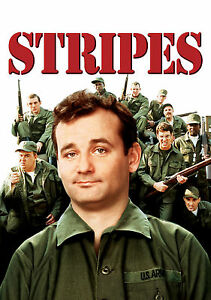 Stripes Bill Murray Vintage Army Movie Giant Poster - A0 A1 A2 A3 A4 Sizes