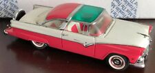 1955 Ford Fairlane Crown Victoria Pink & White Franklin Mint 1:24 Diecast Model